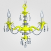 Tara Neon Yellow Clear Crystal Chandelier