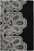 Taru Lace Rug in Black