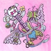 Tattoo - Guitar - Pink Canvas Wall Art