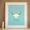Taurus Zodiac Sign Art Print