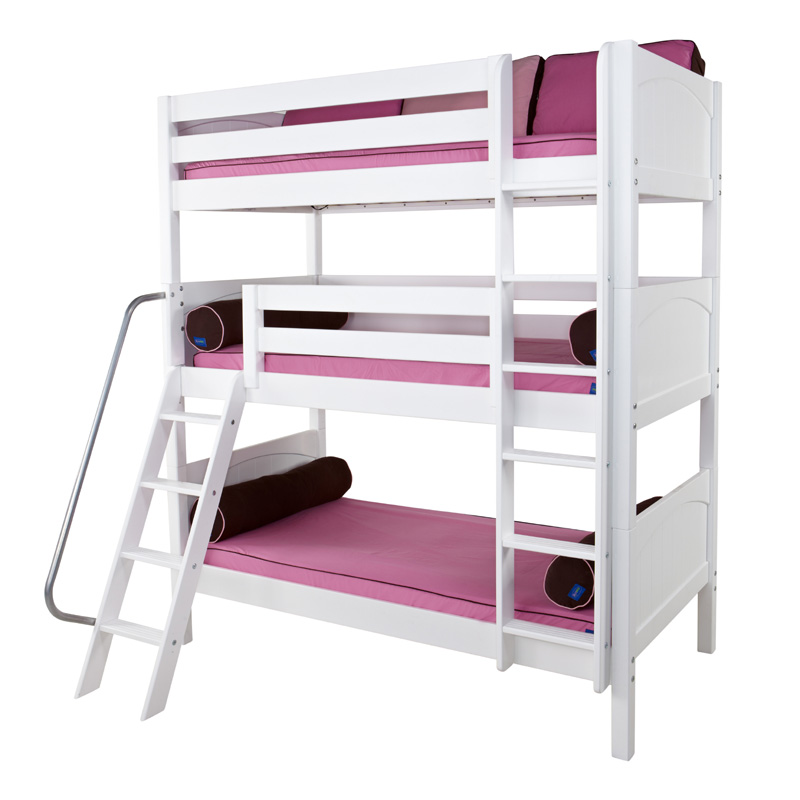 Moly Panel Medium Triple Bunk Bed - RosenberryRooms.com