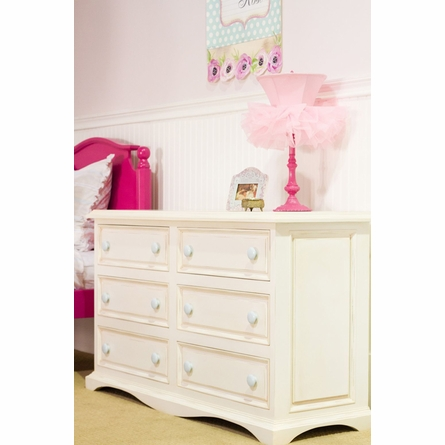 Taylor Six Drawer Scalloped Dresser