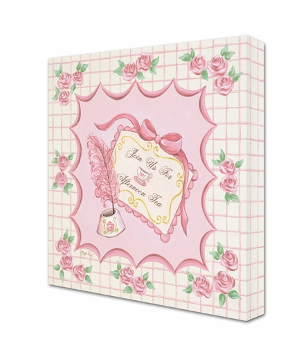 Tea Party Invitation Canvas Reproduction