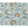 Tea Time Fleece Throw Blanket