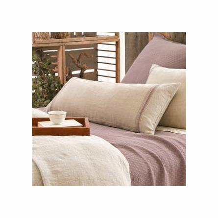 Tea Towel Linen Stripe Plum Decorative Pillow