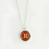 Teak Color Personalized Initial Necklace