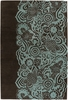 Teal and Chocolate Floral Aschera Rug