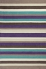 Teal and Plum Stripes Rug