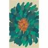 Teal Bombay Flower Rug