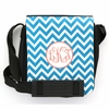Teal Chevron Monogram Sling Bag