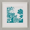 Teal Flower Power Framed Art