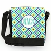 Teal Ikat Diamond Monogram Sling Bag