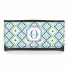 Teal Ikat Diamond Monogram Wallet