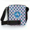 Teal Quatrefoil Monogram Sling Bag