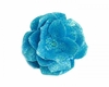 Teal Rose Sequin Hair Bloom
