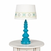 Teal Spindle Table Lamp Base