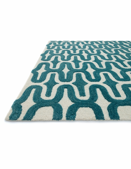 Teal Waves Weston Rug