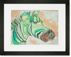 Teal Zee Framed Art Print