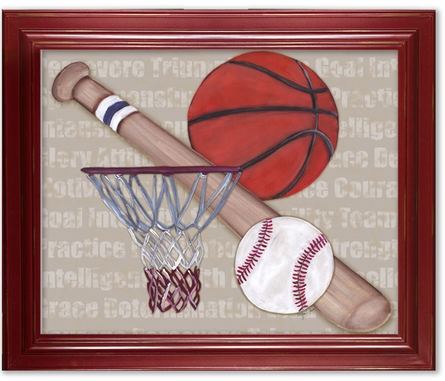 Team Player Framed Canvas Reproduction