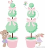 Teddy Bear Topiaries Paint by Number Wall Mural