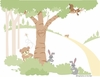 Teddy's Wooded Wonderland I Paint by Number Wall Mural