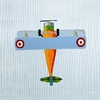 Teddy Striker Airplane Canvas Reproduction
