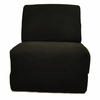 Teen Chair in Black Microsuede
