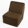 Teen Chair in Brown Microsuede