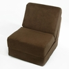 Teen Chair in Brown Microsuede with Pillow