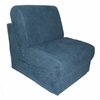 Teen Chair in Navy Microsuede
