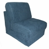 Teen Chair in Navy Microsuede with Pillow