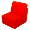 Teen Chair in Orange Canvas with Pillow