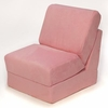 Teen Chair in Pink Microsuede