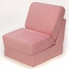Teen Chair in Pink Microsuede with Pillow