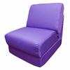 Teen Chair in Purple Canvas with Pillow