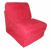 Teen Chair in Red Microsuede