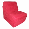 Teen Chair in Red Microsuede with Pillow