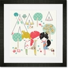 Teepee Trio Framed Art Print