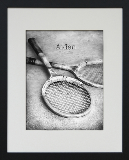 Tennis Personalized Framed Art Print