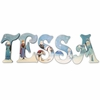 Tessa Frozen Themed Hand Painted Wall Letters