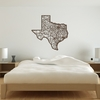 Texas Map Wooden Wall Art