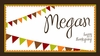 Thanksgiving Banner Personalized Placemat