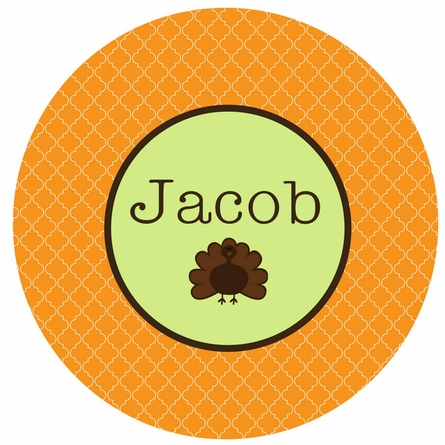 Thanksgiving Turkey Personalized Melamine Plate