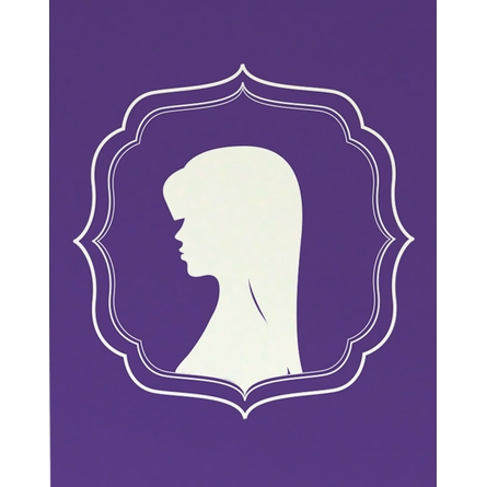 The Bang Cameo Girl Silhouette Art Print