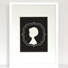 The Bob Cameo Girl Silhouette Art Print