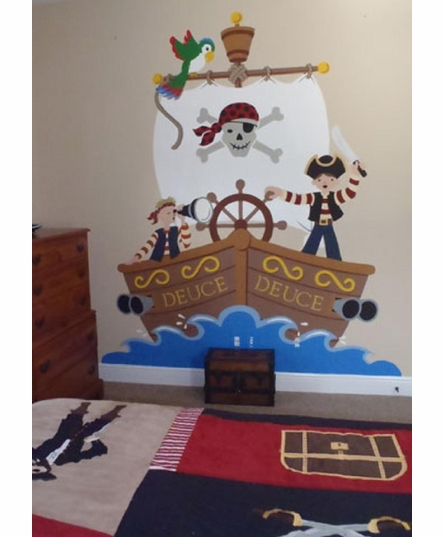 The Buccaneer Paint by Number Wall Mural