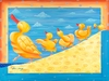 Dancing Quacks Canvas Reproduction