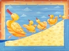 The Dancing Quacks Canvas Reproduction