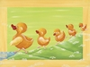 The Duckling Family Canvas Reproduction
