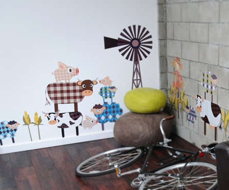 The Fashion Farm Gang Fabric Wall Decals